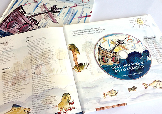 Capa DVD – Uma longa viagem até ao Atlântico